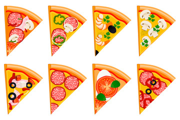illustration logo for whole round hot pizza