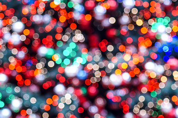beautiful colorful christmas light background