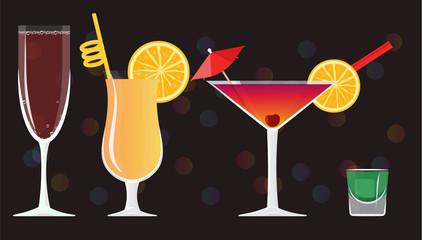 Rose wine glass, Sex on the beach, Cocktails Manhattan, Absinthe