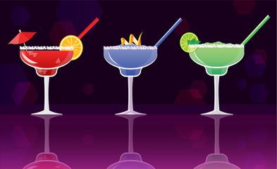 Margarita cocktail strawberry,  Blueberry Margarita Cocktail and Classic Margarita  cocktails