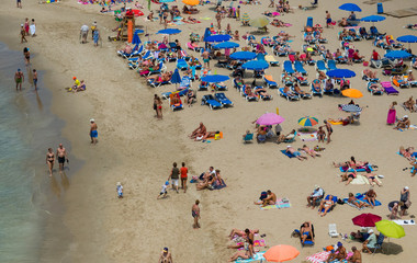 benidorm beach scene