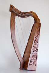 Irish Celtic harp with 19 strings