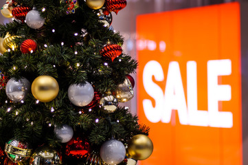 christmas sale shopping mall