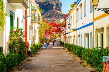 Puerto de Mogan, Gran Canaria island, Spain. Cozy town on the coast of Gran Canaria island, Spain.