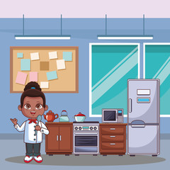 Chef girl cartoon
