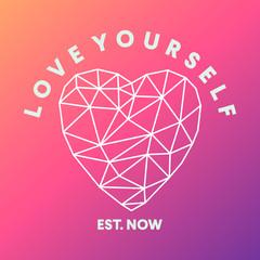 valentine love your self card vector design