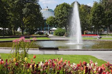 Bad  Duerrheim Kurpark Brunnen