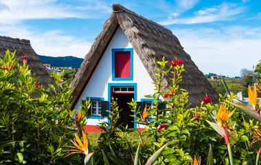 Wall Mural - Traditional rural house, Santana village, Madeira island, Portugal