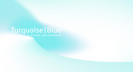 Minimal smooth background with pale turquoise gradient color spot. Subtle vector graphics
