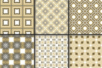 Set of Geometric Pattern with Modern Line Design . Seamless Vector Background. For Scrapbooking Design, Printing, Wallpaper, Decor, Fabric, Invitation.