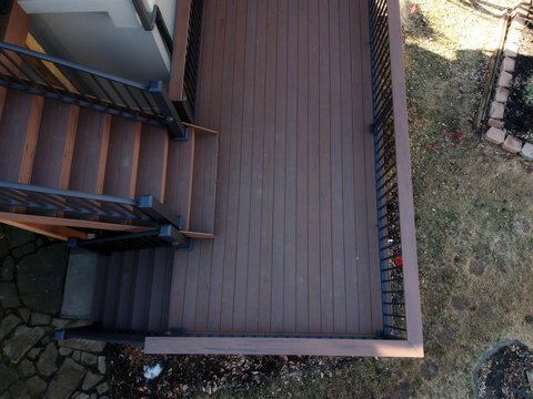 Deck remodel on a older home with a sunroom attached
