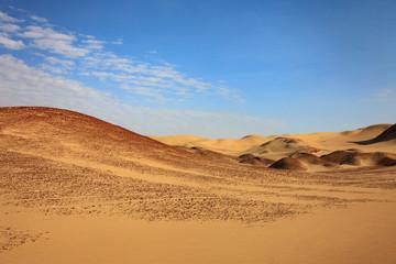 The desert in Paracas in Peru. Sun sea and sand