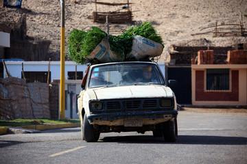 Peruvian car through the streets of Peru
