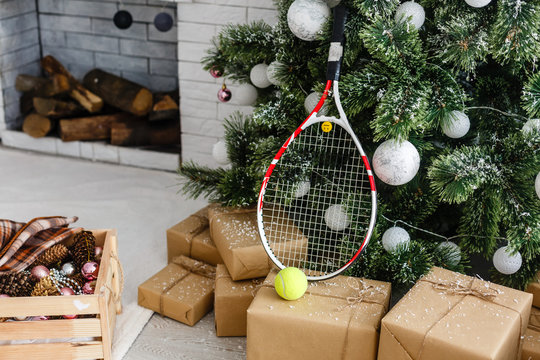 Christmas tree with sport style decoration