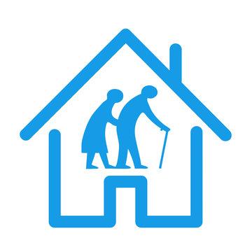 Retirement house icon