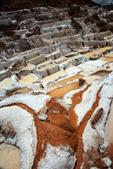 Saline of Cusco in Peru 4000 salt baths