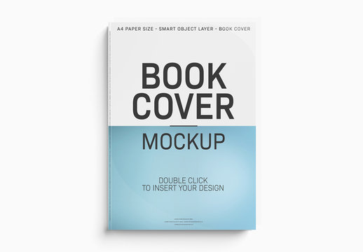 Isolated Book Cover Mockup