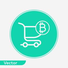 Shopping cart vector icon sign symbol