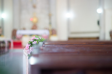 Flowers decorated beautifully in church - images