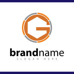 g initial letter logo vector template