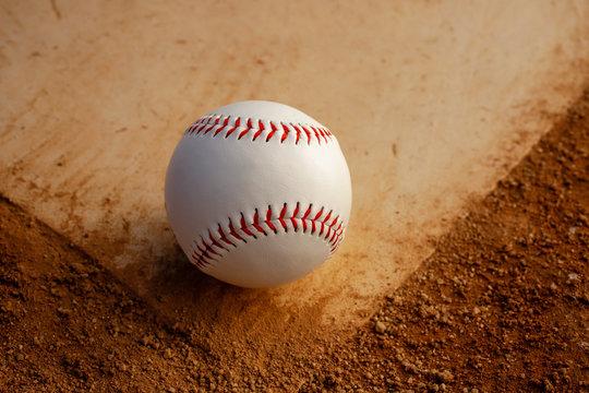 Baseball on homeplate