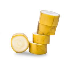 Banana slice isolated on white background - Image