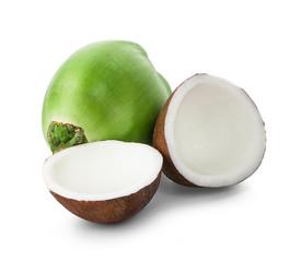 coconut isolated on white background - Image