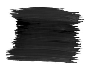 A fragment of the black color background painted with watercolors