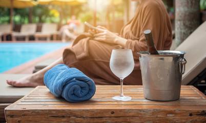Holiday week end on  pool villa beach side