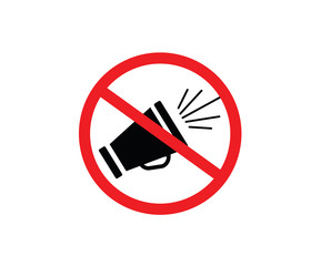 Horn not allowed icon