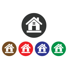 Modern Colorful home icon vector on white background