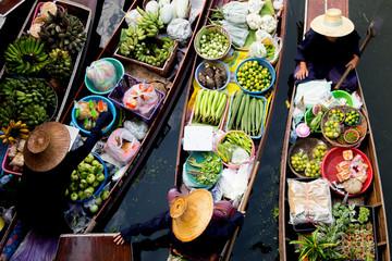Fototapeta Floating Market Thailand Lifestyle obraz