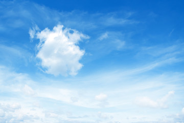 Dim cloud in the blue sky background