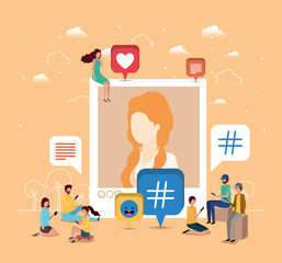 social community with woman profile picture