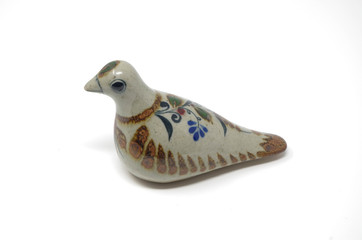 Earthenware dove figurine - Tonala, Mexico