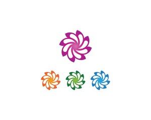 Flower beauty spa logo design vector