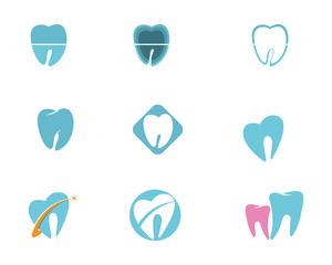 Dental care logo and symbols template icons