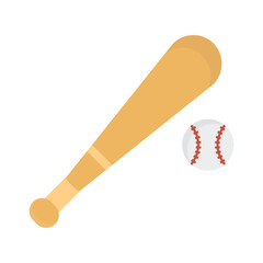 baseball icon vector in flat style on white background