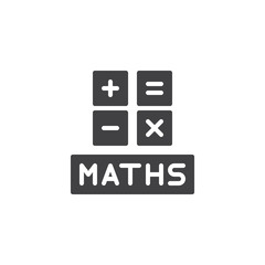 Math symbols vector icon. filled flat sign for mobile concept and web design. Mathematics simple solid icon. Symbol, logo illustration. Pixel perfect vector graphics
