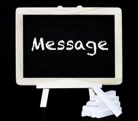 Message on blackboard