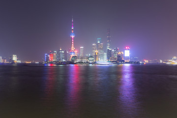 Shanghai city at night, China