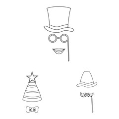 Vector design of party and birthday icon. Set of party and celebration stock symbol for web.