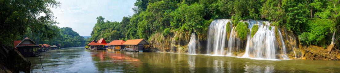 Fototapeta Panoramic beautiful waterfall in Thailand obraz