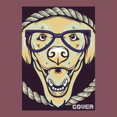 pug dog illustration with slogan - Vector