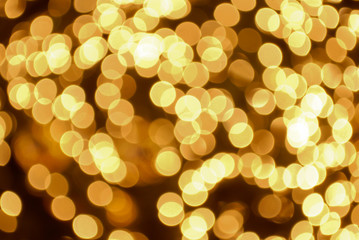 Bokeh gold color abstract background