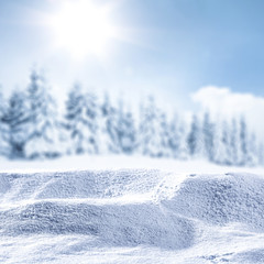 Winter background and snow decoration