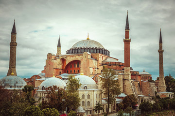View of Hagia Sophia museum from terrace.