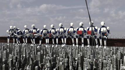 robots obreros futuro Fototapete