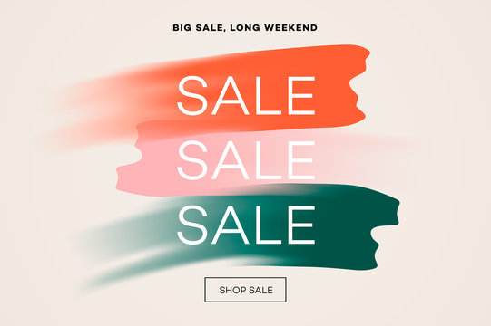 Sale banner template, big sale, online shopping, vector illustration.