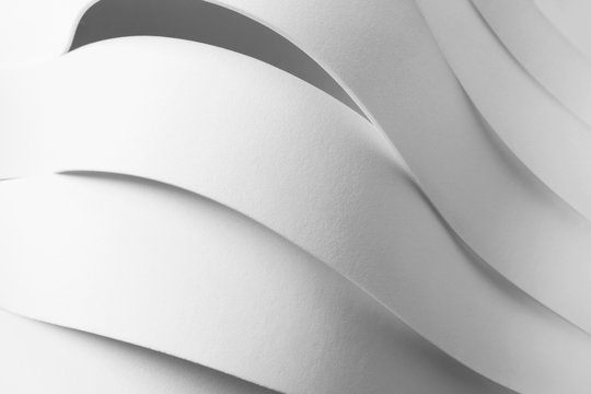 Composition with curved elements, abstract background